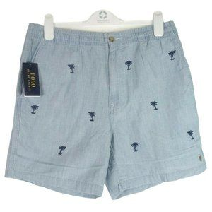 Polo Ralph Lauren Mens Chambray Shorts Embroidered